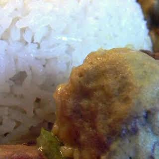 Vegan Meatball Curry.