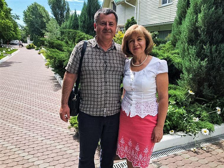 Татьяна Грушко с мужем Александром, которого убили во время ограбления. Фото из семейного архива