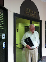 Photo: At Hoffman Insurance Services, Inc. in Wellesley, MA with their 25 Year Accreditation Achievement Award plaque