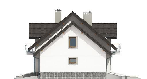 Dom Dla Ciebie 3 z garażem 1-st. A - Elewacja prawa