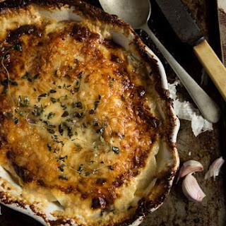 Creamy Potato & Thyme Gratin.