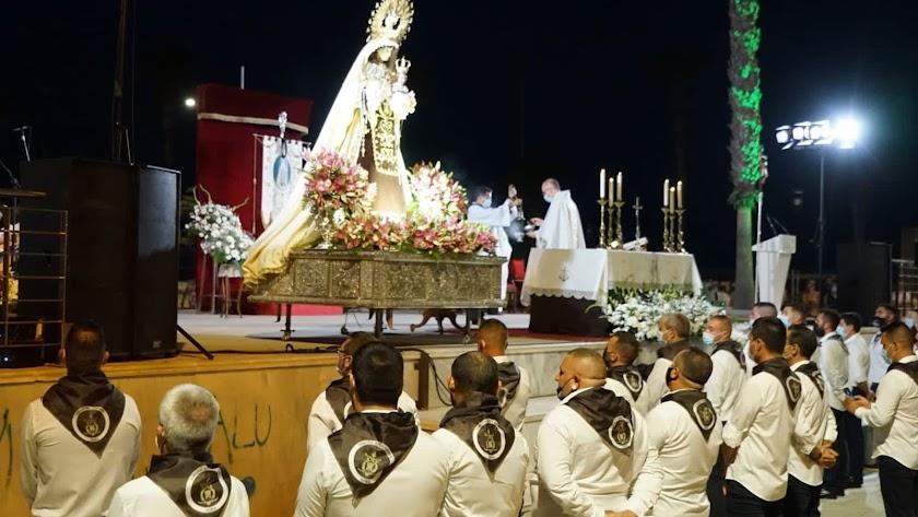 Misa en honor a la Virgen del Carmen (Adra).