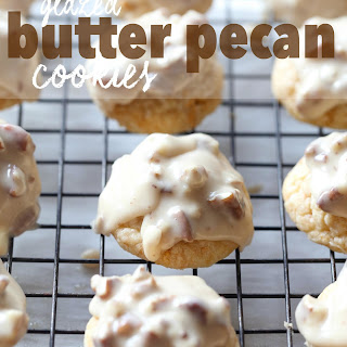 Glazed Butter Pecan Cookies