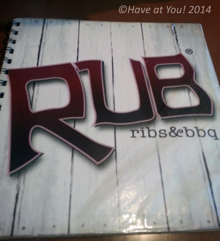 Rub menu cover