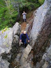 Photo: A narrow passage on Catamount.