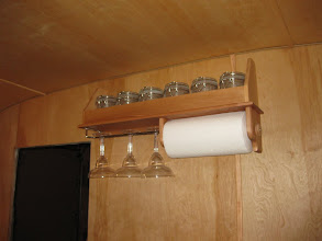Photo: Built and installed paper towel and glass holder.