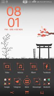 Sakura Orange : Xperia Theme - náhled
