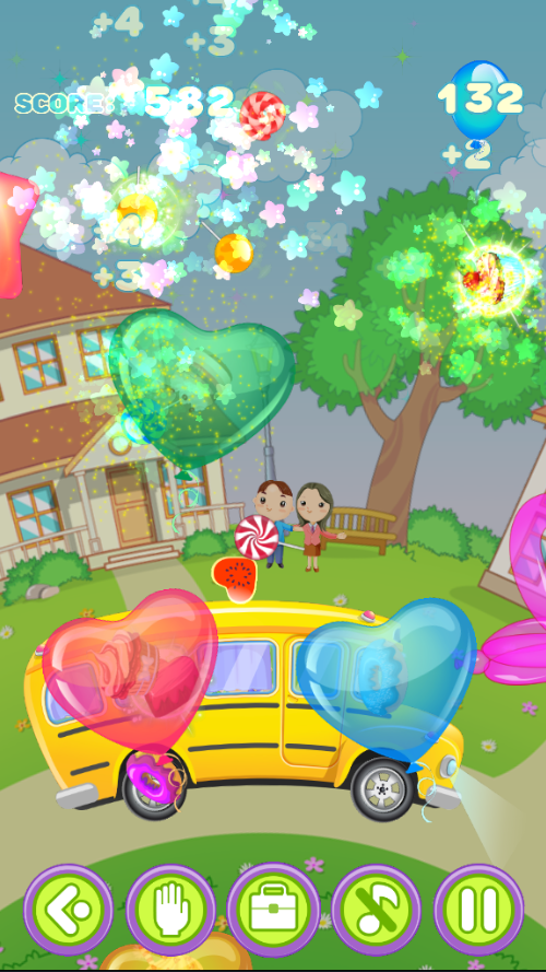 Children game Popping balloons- screenshot