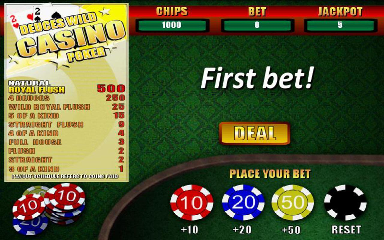 Deuces Wild Casino Poker- screenshot