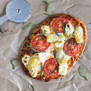 Artichoke A La Mode Flatbread Pizza.