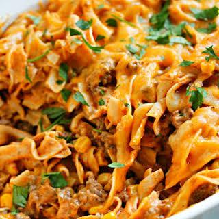 Enchilada Pasta Casserole.