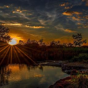 Romantic Twilight - 1 by Jiří Valíček - Landscapes Sunsets & Sunrises ( twilight, romantic, lake,  )