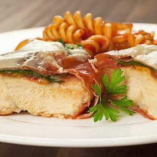Prosciutto-Wrapped Chicken Breasts with Spinach and Tomato Recipe