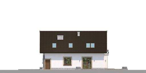 Dom przy Alabastrowej 41 - Elewacja tylna