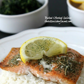 Baked Herbed Salmon.