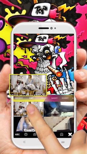 Graffiti Smoke Skull Keyboard Theme 1.0 screenshots 4