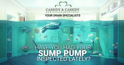 inspecting sump pump