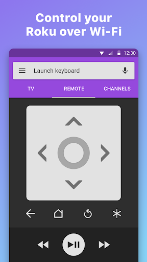 Remote for Roku - RoByte  screenshots 1