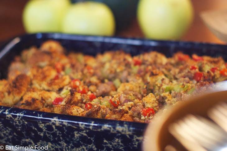 ... pepper dressing three pepper sausage cornbread dressing recipe food