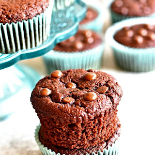 Paleo Chocolate Muffins {Gluten-Free, Grain-Free, Dairy-Free, No Refined Sugar}.