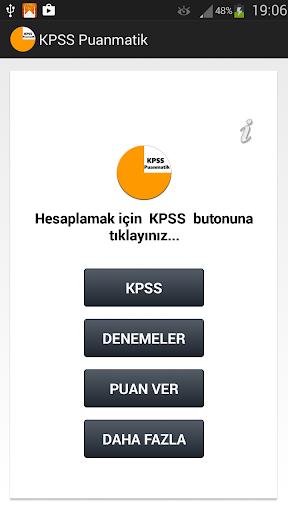 KPSS Puan Hesaplama 2015
