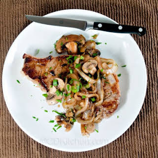 Company Steak With Mushroom-Onion Topping.