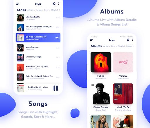 Nyx Music Player screenshot 2