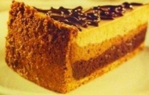 Dark Chocolate Triple Layer Cheese Cake Recipe