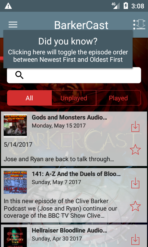 BarkerCast- screenshot