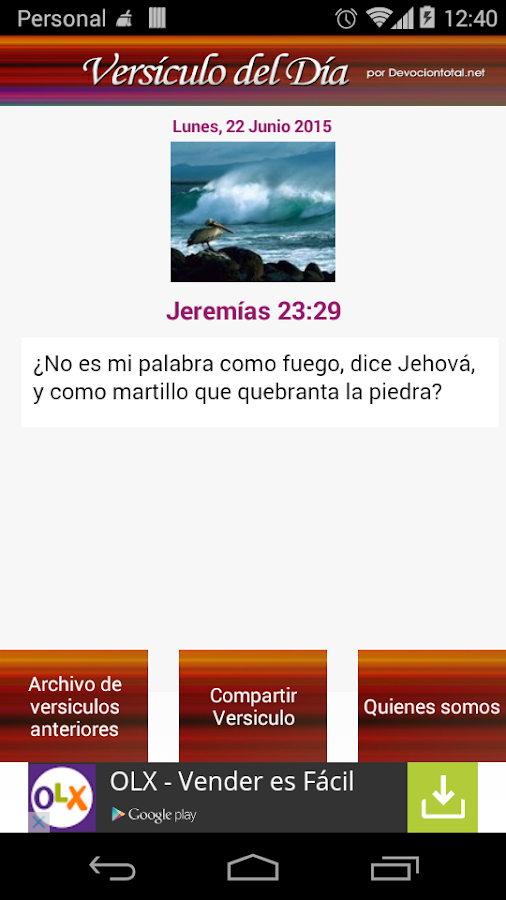 Versículo del Día- screenshot