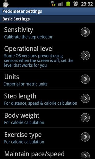 Pedometer screenshot 2