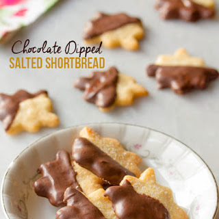 Chocolate Dipped Salty Shortbread