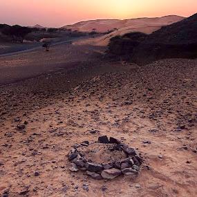 Transition by Souhayl Bk - Landscapes Deserts ( desert rocks sunset emirates uae evening contrast )