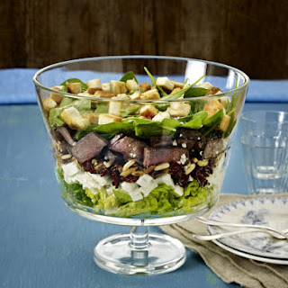 Layered Steak Salad