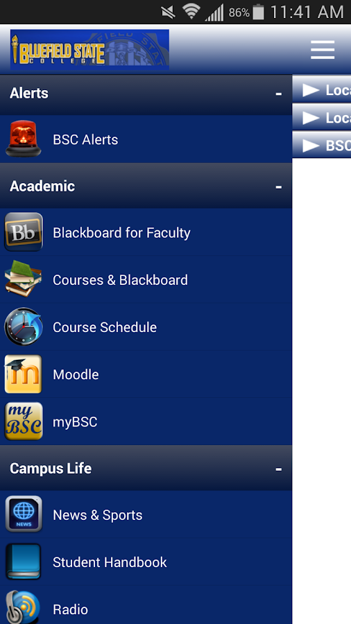 myBSCMobile- screenshot