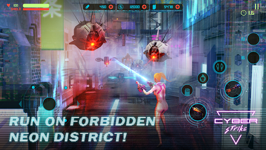 Cyber Strike - Infinite Runner Screenshot