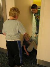 Photo: Playing tag at baggage claim.