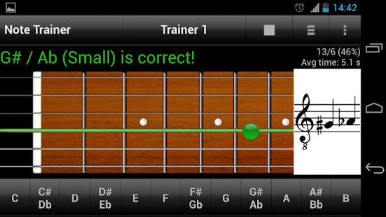 guitar note trainer demo android apps on google play. Black Bedroom Furniture Sets. Home Design Ideas