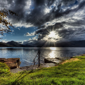 Hardanger Gjestegård by Sigbjørn Fjellheim - Landscapes Weather ( weather, hardanger. norway )