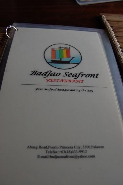 Badjao Seafront Restaurant menu