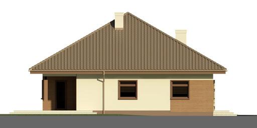 Dom przy Rubinowej 2 - Elewacja lewa