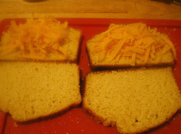 Top 1 slice of bread with cheese and whatever options you choose.