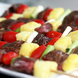 Beef & Pineapple Teriyaki Skewers
