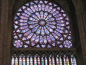 Photo: In the Notre Dame. The south rosette.