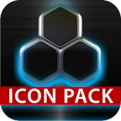 GLOW LIGHT BLUE icon pack HD