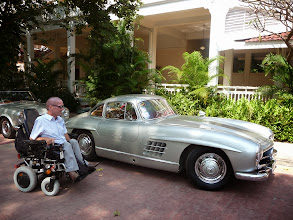Photo: Just to show how low these cars are. Even I can look n the roof. With Wheelchair Thailand Hua Hin.