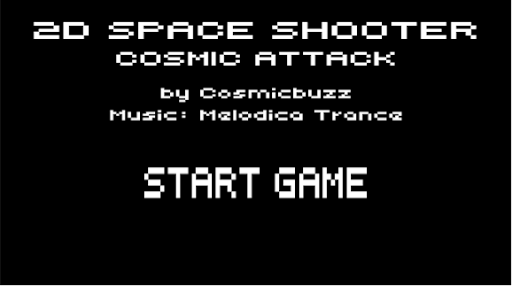 2D Space Shooter Cosmic Attack