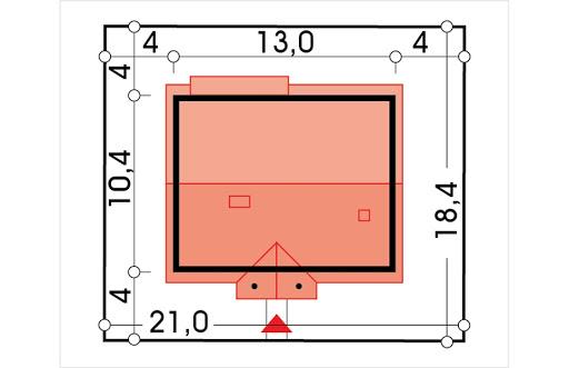 Sielanka 100 MDM wersja A bez garażu - Sytuacja