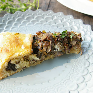 Wild Mushroom and Blue Cheese Galette