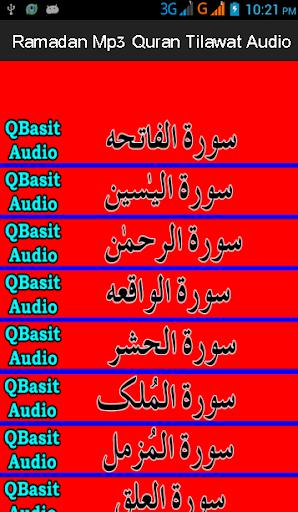 Ramadan Mp3 Quran Tlawat Audio
